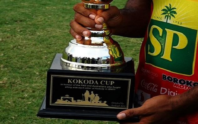 The Burleigh Bears and the PNG Hunters play for the Kokoda Cup
