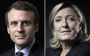 Centrist Emmanuel Macron and far-right leader Marine Le Pen