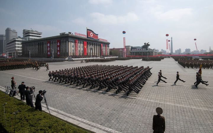 A military parade in North Korea.