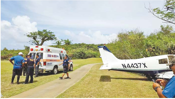 Piper PA28-140 Cherokee Cruiser after emergency landing on golf course