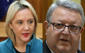 Nikki Kaye and Gerry Brownlee