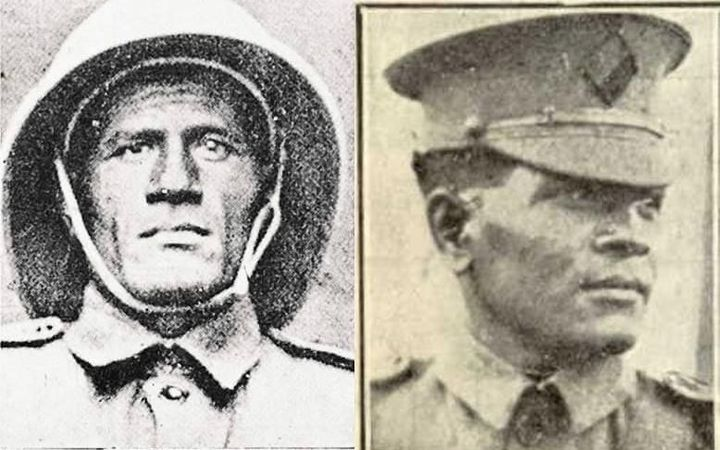 Brothers Corporal Hipa (l) and Sergeant Pulu, joined Niue's contingent of WW1 soldiers