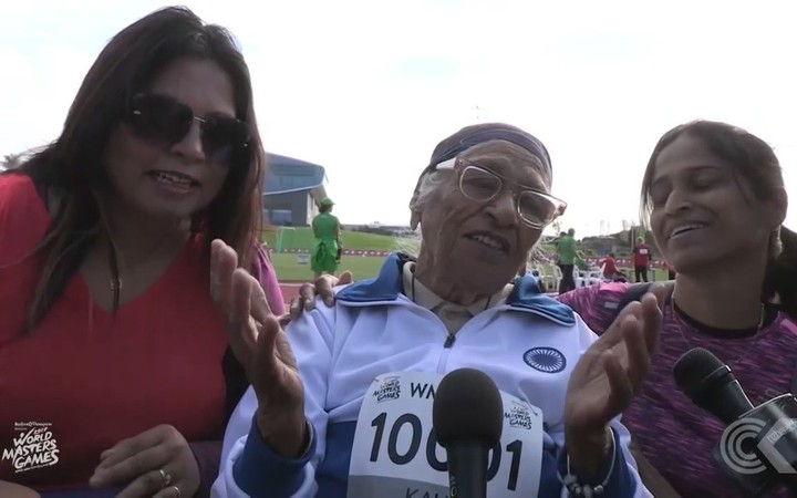 101 year old claims sprinting gold at Masters Games: RNZ Checkpoint