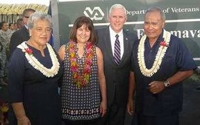 Vice-President Pence with Governor Lolo, (far right) and their wives.