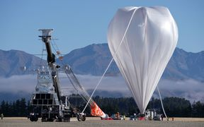 Nasa's football-stadium-sized, heavy-lift super pressure balloon prepares to take to the skies over Wanaka.