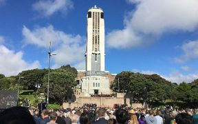 Anzac celebrations in Wellington at the National War Memorial.