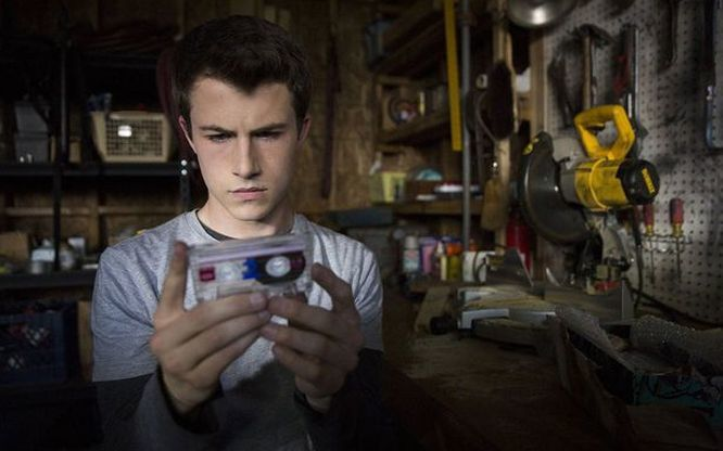 Dylan Minnette in a scene from '13 Reasons Why'.
