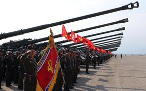 A recent military display in North Korea.