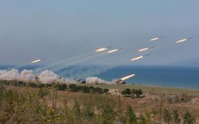 North Korea has been releasing images of live fire exercises in the past few days.