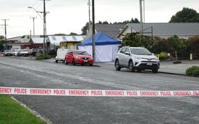 The scene of the shooting in Invercargill.