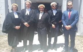 Lawyers representing the Nauru 19 group Felicity Graham, Stephen Lawrence, Mark Higgins, Neal Funnell and Christian Hearn.