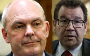 Steven Joyce and Grant Roberston