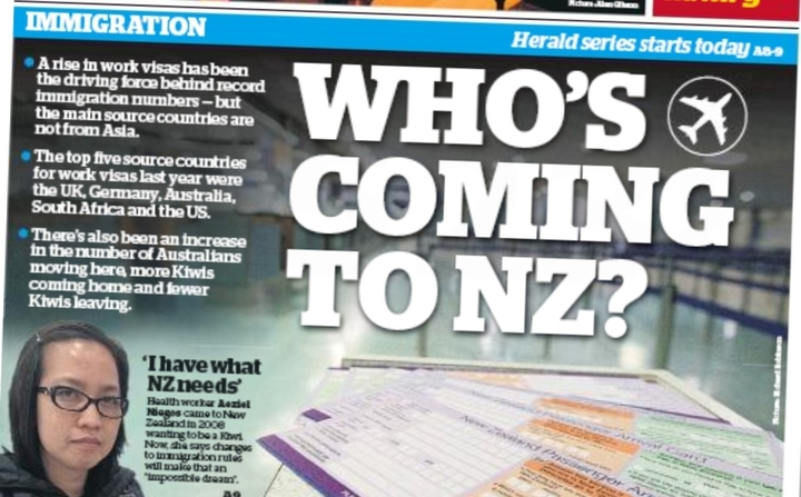 "The front page story Winston Peters condemned as ""propaganda""."