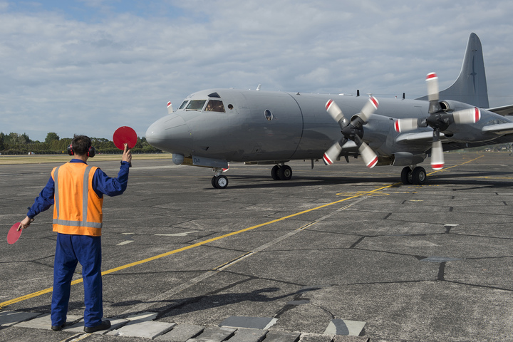 One of the New Zealand Defence Force's  current P-3K2 Orion aircraft.