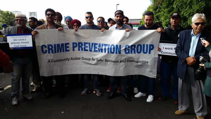 A protest in Manukau calling for more police patrols.