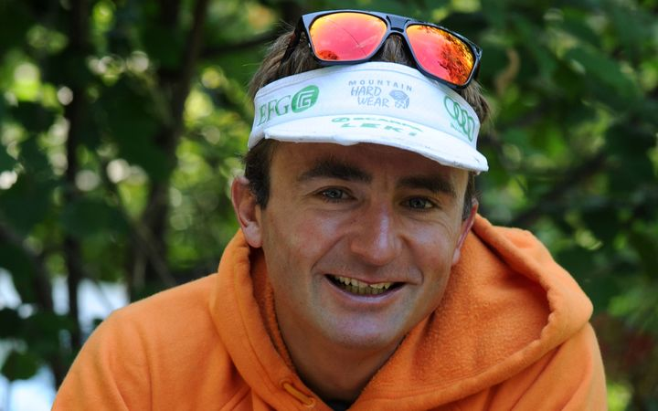 Swiss climber Ueli Steck poses in Sigoyer, in the Hautes-Alpes department of southeastern France in 2015.