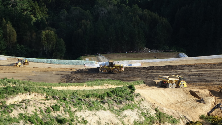 Construction at the Transmission Gully site.
