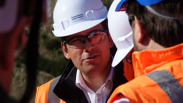 "Simon Bridges described it as a ""beast"" of a project."