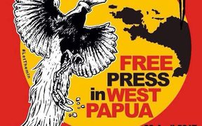 Poster calling for press freedom in Indonesia's Papua region, otherwise known as West Papua.
