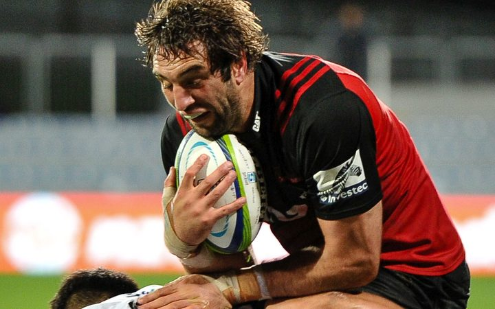 Crusaders and All Black lock Sam Whitelock.