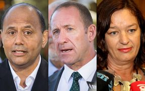 Willie Jackson, Andrew Little and Sue Moroney