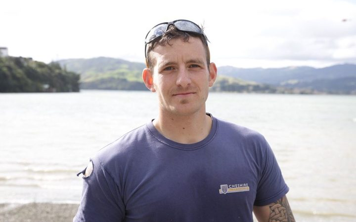 Adam Power, who paddled to the pilot's rescue after seeing the crash.