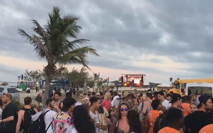 Photos and videos claiming to show the scene on the ground at Fyre Festival were posted on social media.