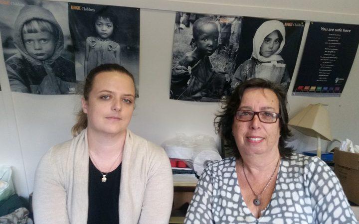Asylum Seekers Support Trust's Freyja Stocker and chief executive, Marian Kleist.