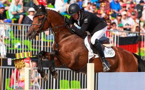 Sir Mark Todd competing on Leonidas II at the Rio Olympics