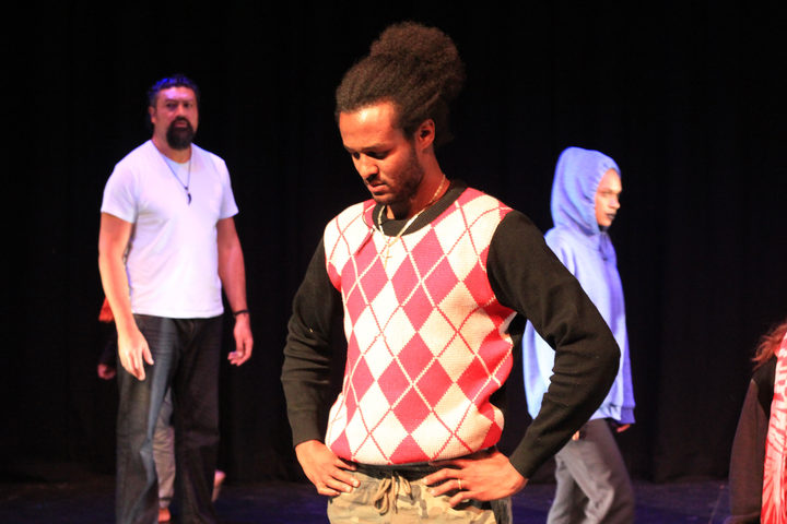 Actor Fathe Tedros Tesfamariam playing Ahmed in In Transit.