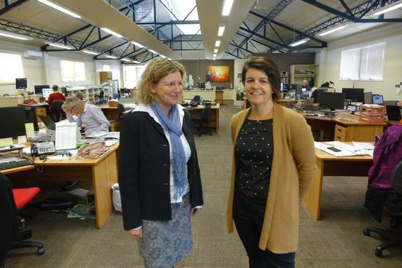 Nelson Mail editor Victoria Guild, left, and chief news director Sally Kidson