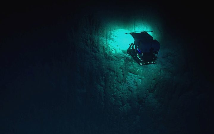 One of the Remote Operated Vehicles (ROV) exploring deep seas of the Pacific Ocean during the NOAA ship Okeanos Explorer's 2017 mission