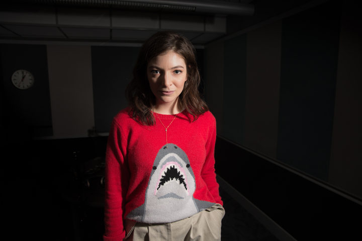 Ella Yelich-O'Connor, better known by her stage name Lorde, in the RNZ Auckland studios. 4 May 2017.