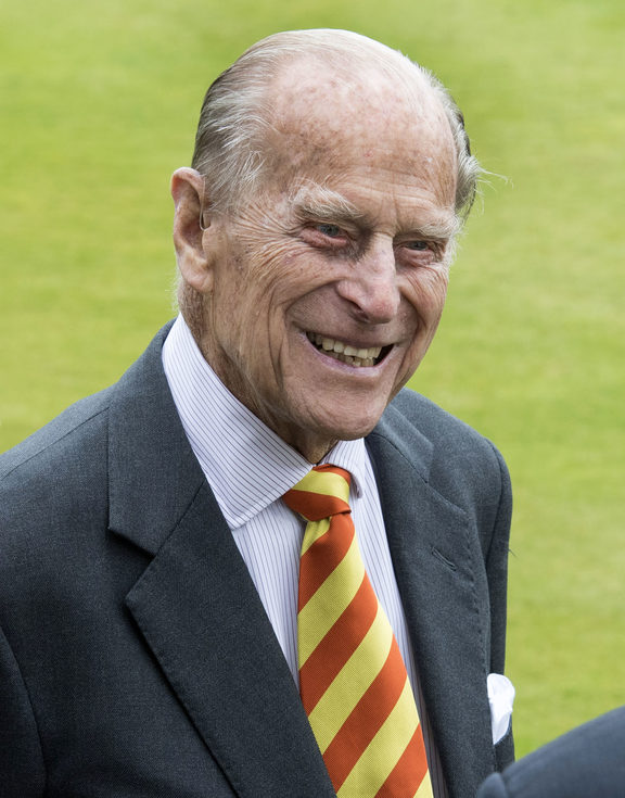 The Duke of Edinburgh, Prince Philip, at his latest public engagement where he opened the new Warner Stand at Lord's Cricket Ground in London yesterday.