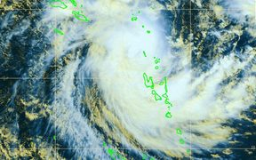 A satellite image of Cyclone Donna from the French meteorological service.