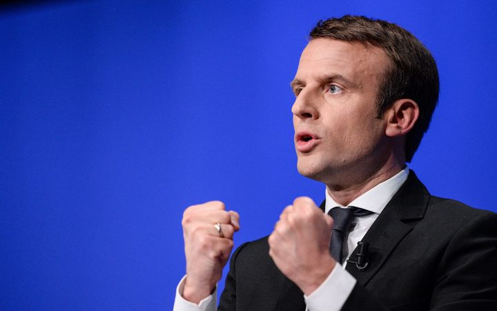 French presidential election candidate for the En Marche ! movement Emmanuel Macron.