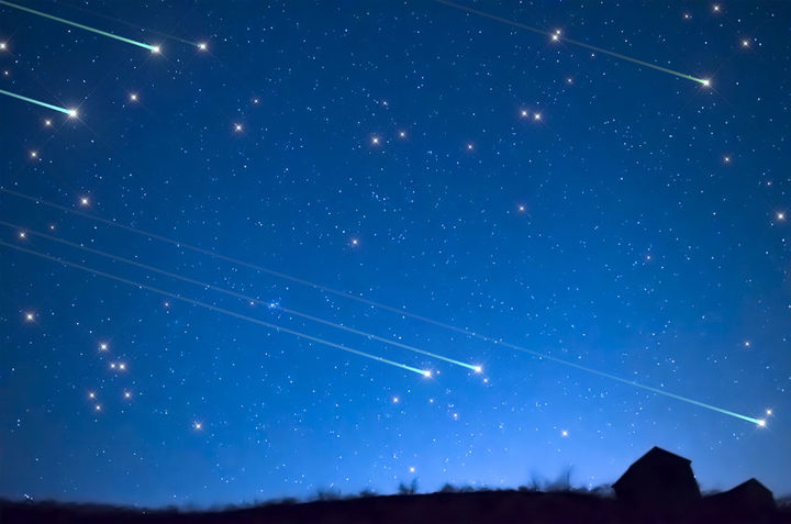 Meteor showers are lighting up the early morning skies (file picture).