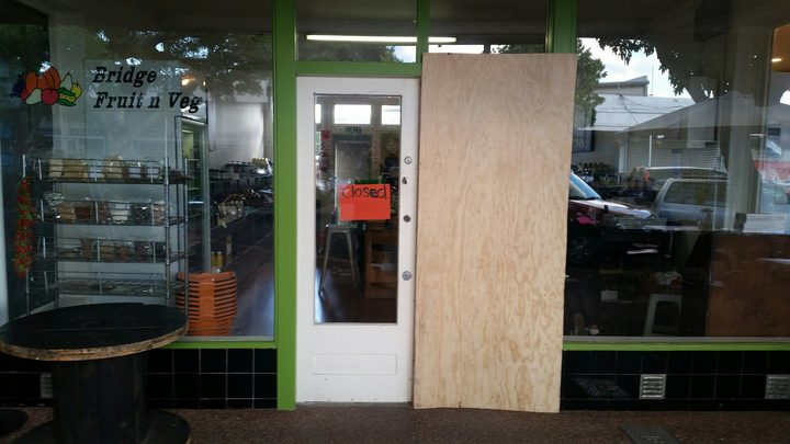 Three business fronts were attacked after 5am this morning in Mangere Bridge.