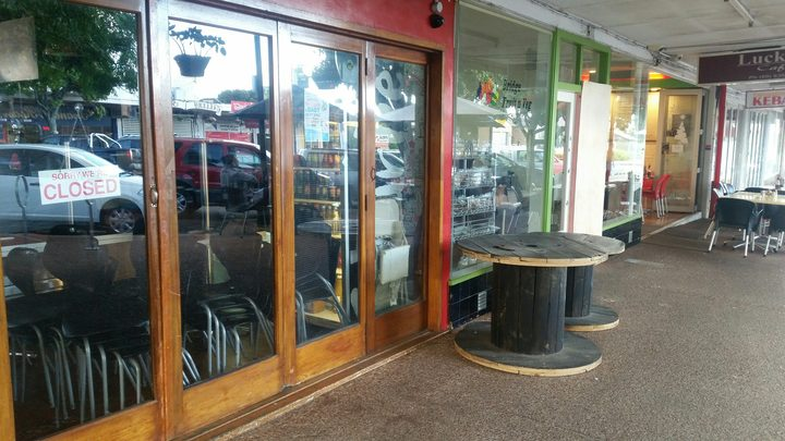Three shop fronts were hit by the vandals - Ruby Red, Bridge Fruit n' Veg and Lucky Cafe.
