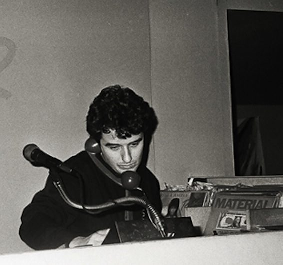 Murray Cammick DJing in the early 1980s