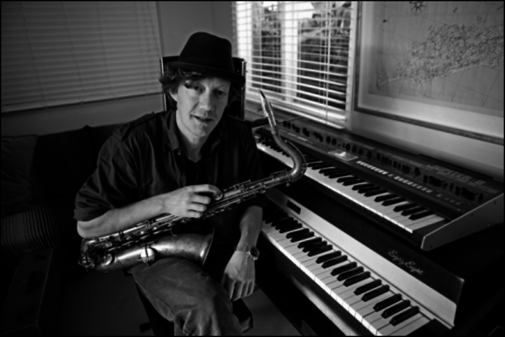 Nathan Haines with saxophone and keyboards