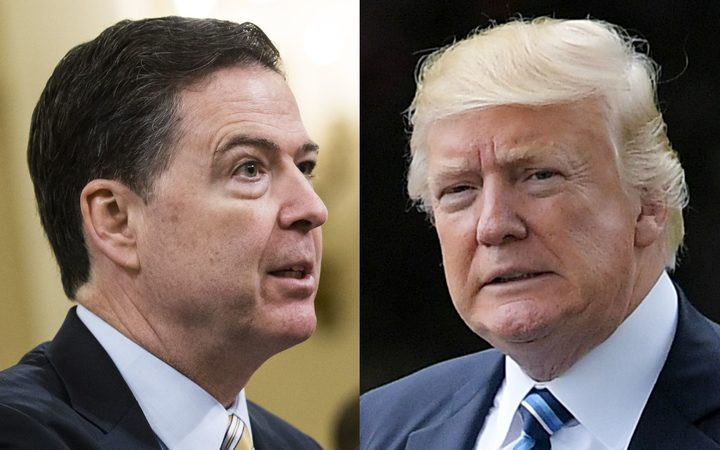 Fired FBI director James Comey and President Donald Trump.