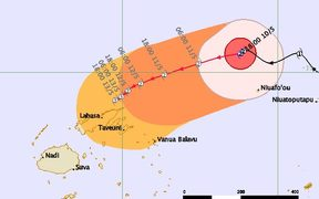 Tropical cyclone threat map for Ella.