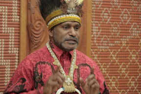 Benny Wenda the leader of the West Papauan Freedom Movement.