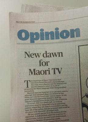 The Dominion Post applauds Paora Maxwell's decision.
