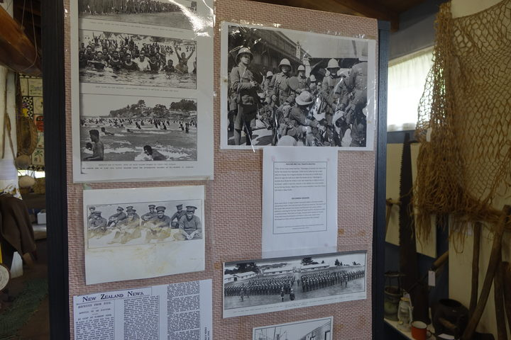 Exhibition inside Niue museum