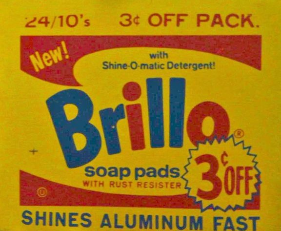 The Brillo Box made famous by Andy Warhol.