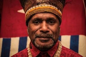 West Papuan independence leader Benny Wenda.