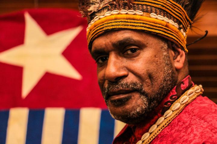 West Papuan independence leader Benny Wenda.