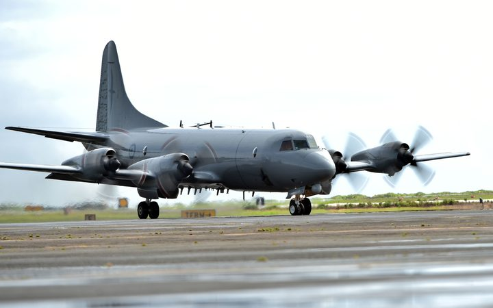 A Royal New Zealand Air Force P-3K2 Orion aircraft
